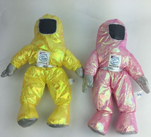 Pink And Yellow 1997 Intel Inside Mascot Bunny People cubicle Doll Voodoo 14