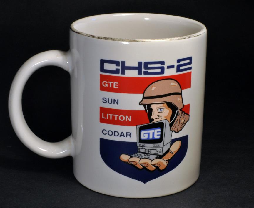 CHS-2 Military Computers Coffee Mug Cup - GTE, SUN, LITTON, CODAR & GTE