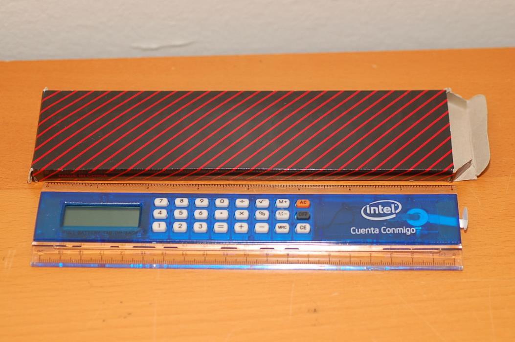 Intel Corporation 2 IN 1 CALCULATOR / RULER 8
