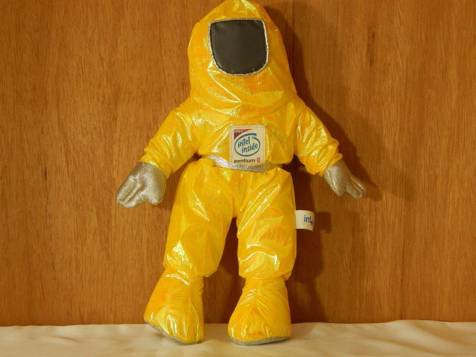 Intel Inside Pentium II Yellow Astronaut Man Plush 13