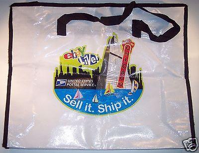 eBay Live USPS Sponsor Laminated Tote Zippered Swag Bag U.S.P.S. Chicago 2008 VG