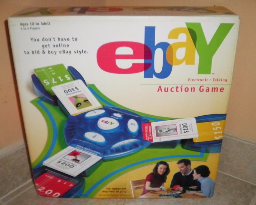 NEW Hasbro 2001 eBay AUCTION Board Game Electronic Talking NEW Unopened