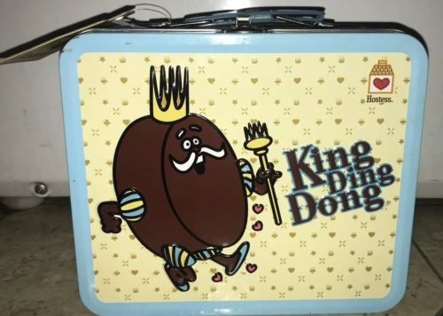 Collectible Hostess King Ding Dong Metal Lunch Box With Original Tag