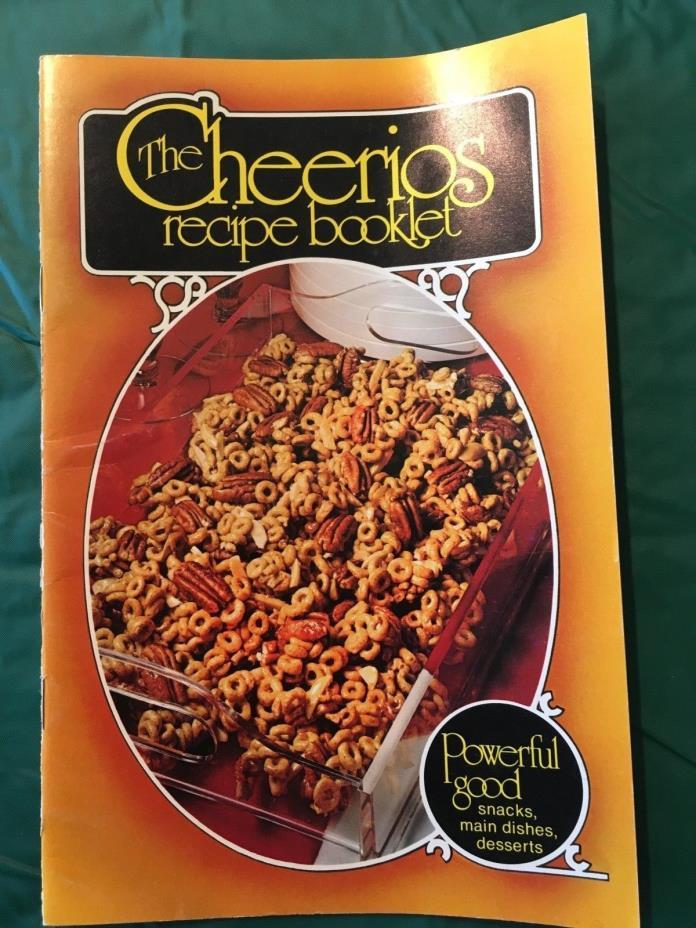 Vintage 1977 Cheerios promotional advertising recipe booklet