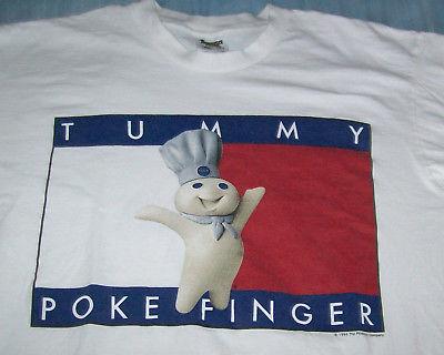 XL Tummy Poke Finger Pillsbury Doughboy T Shirt 1996