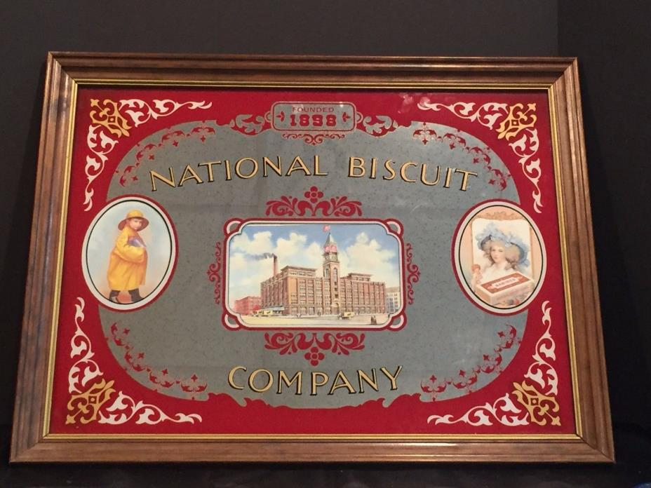 Vintage National Biscuit Company NABISCO Advertising Mirror