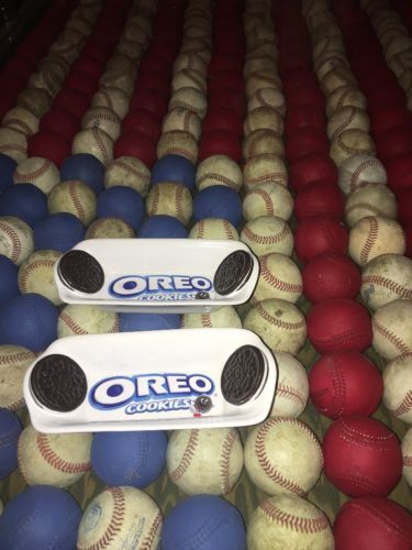 Set of 2 Kraft Foods Oreo Cookies Banana Split Dish - 8 1/2