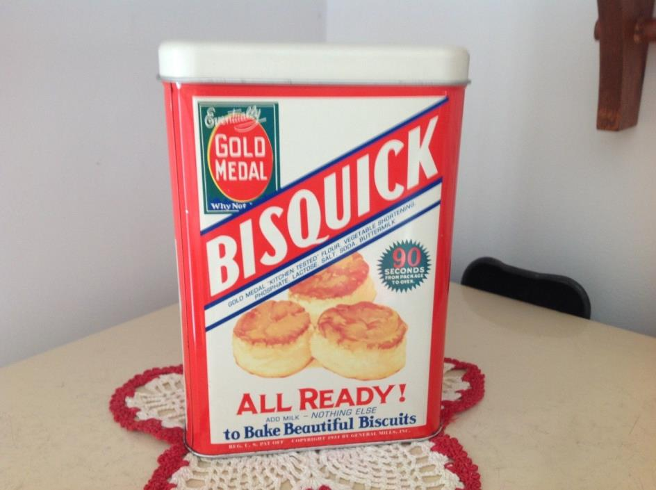 Vintage Tin Can Bisquick, General Mills