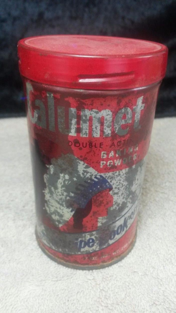 VINTAGE CALUMET BAKING POWDER TIN