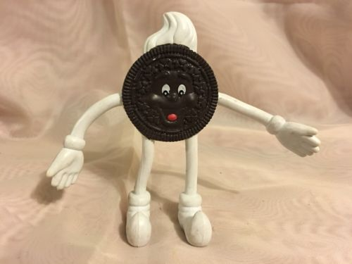 VINTAGE OREO COOKIE FLEXIBLE GUMBEE TYPE FIGURE~ADVERTISING TOY~4-1/2