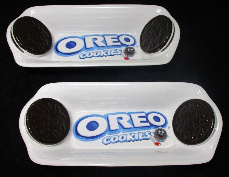 EUC Set of 2 OREO Cookie BANANA SPLIT/ICE CREAM SERVING DISHES