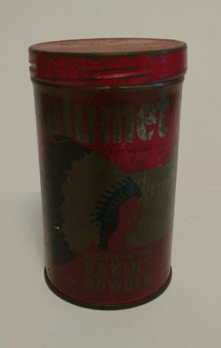 Vintage Calumet Baking Powder Tin 1/2 Lb.