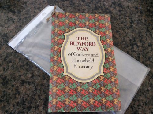 1912 Advertising Cookbook THE RUMFORD WAY Cookery Household Economy Janet Hill