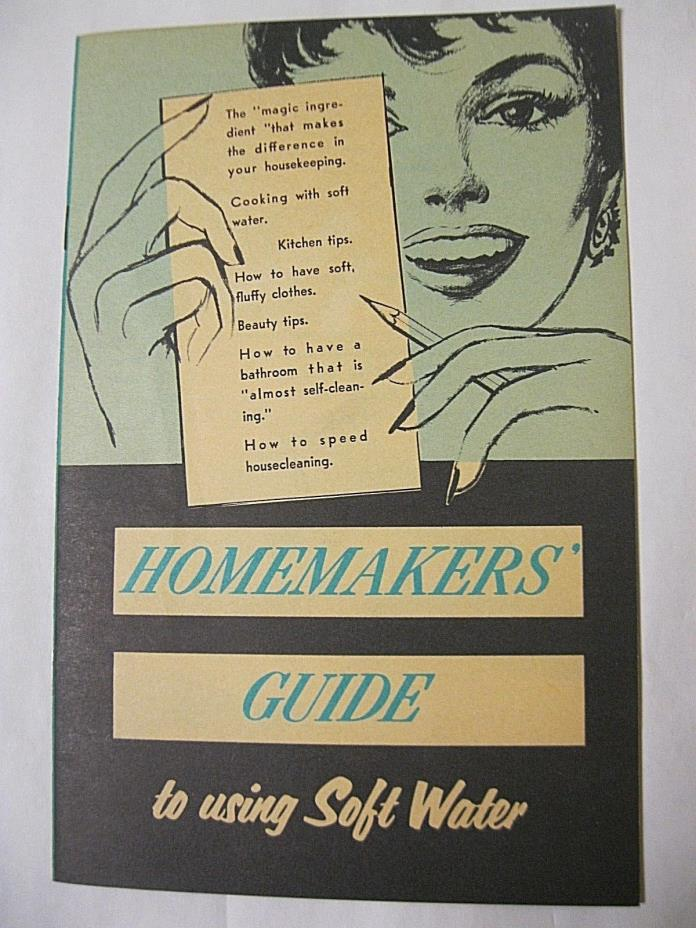 Homemakers Guide to Using Soft Water Booklet