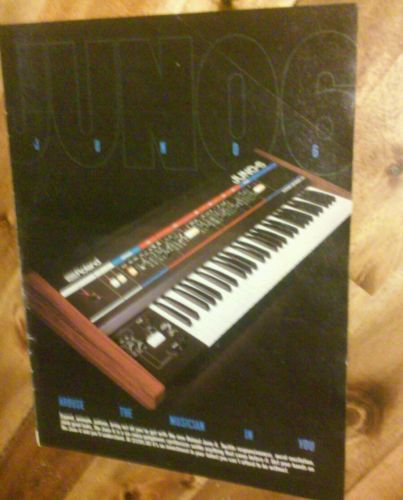 Framed 1983 Roland Juno 6 synthesizer keyboard vintage photo print ad