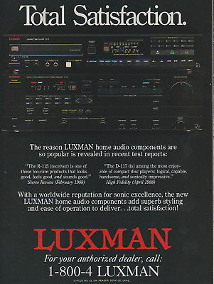 Luxman/Phase Linear - Audio/PLT 150 Amp - Original Magazine Ad -1988 (NW)