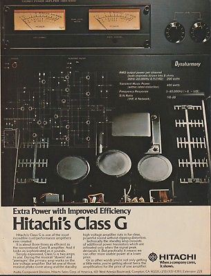 Hitachi/Ortofon - Class G Amps/VMS Cartridge - Original Magazine Ad -1988 (NW)