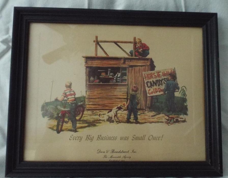 RARE Framed Dun & Bradstreet ad print