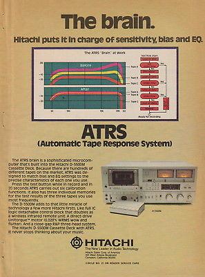 Hitachi - D-5500M Cassette Deck - Original Magazine Ad - (NW)