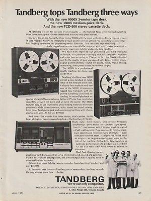 Tandberg - Reel/Cassette Decks - Original Magazine Ad -1973 (NW)