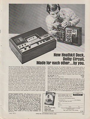 Heath - Heathkit Cassette Deck - Original Magazine Ad -1973 (NW)