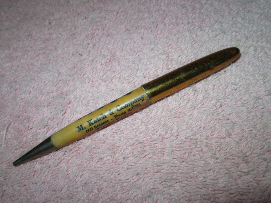 Vintage M. Katch & Company Mechanical Pencil - MOOG - Topeka, KS - Phone 4-1736