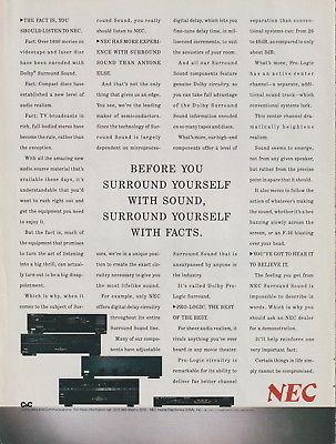 NEC - Audio/DS8000U VCR - Original Magazine Ad -1988 (NW)