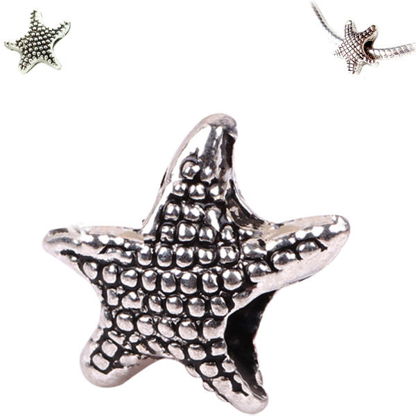 MERZIEs sp STARFISH sea ocean European large hole charm bead - SHIPs from USA