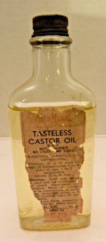 Vintage Gold Medal Castor Oil with orginal contents