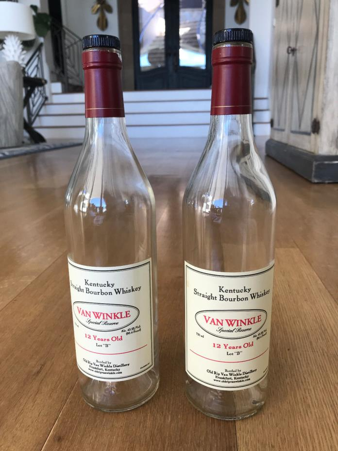 TWO 2 Van Winkle Special reserve 12 year old Lot