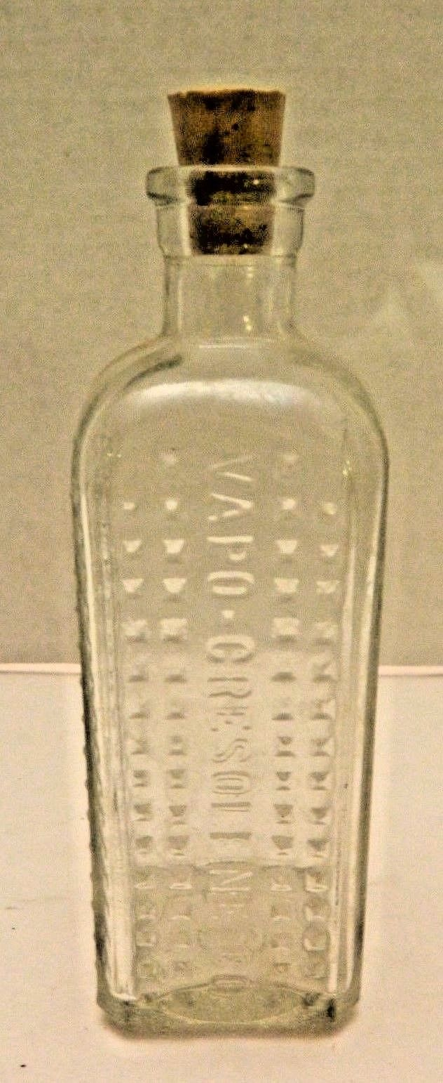 VINTAGE  MEDICINE  BOTTLE - Vapo-Cresolene Co