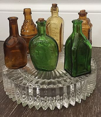 Lot of 6 Miniature Reproduction Antique Bitters Bottles - Wheaton & Taiwan