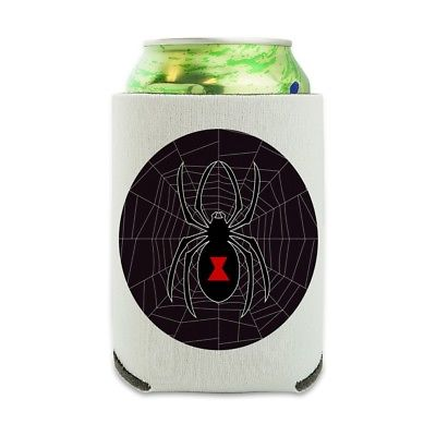 Black Widow Spider on Web Can Cooler Drink Hugger Insulated Holder