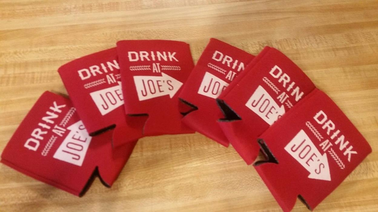 6 Drink at Joes Beer Koozies can bottle New