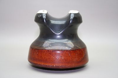 Antique Vintage Ceramic Porcelain Electrical SHINY FINISH Tri-Colored Insulator