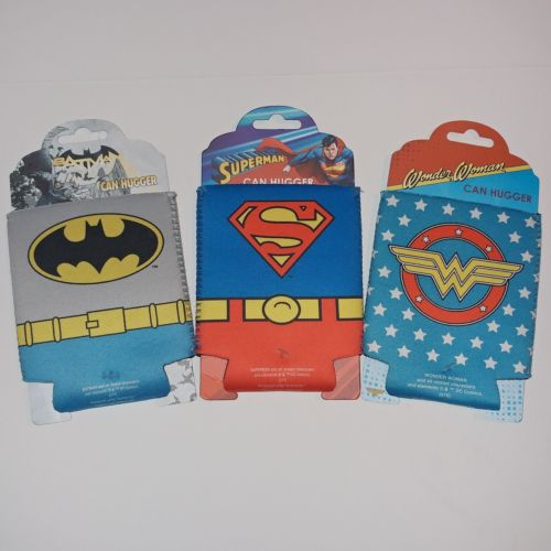 DC Comics Beer Soda Coozie Koozie Drink Soda Holder Batman Superman Wonder Woman