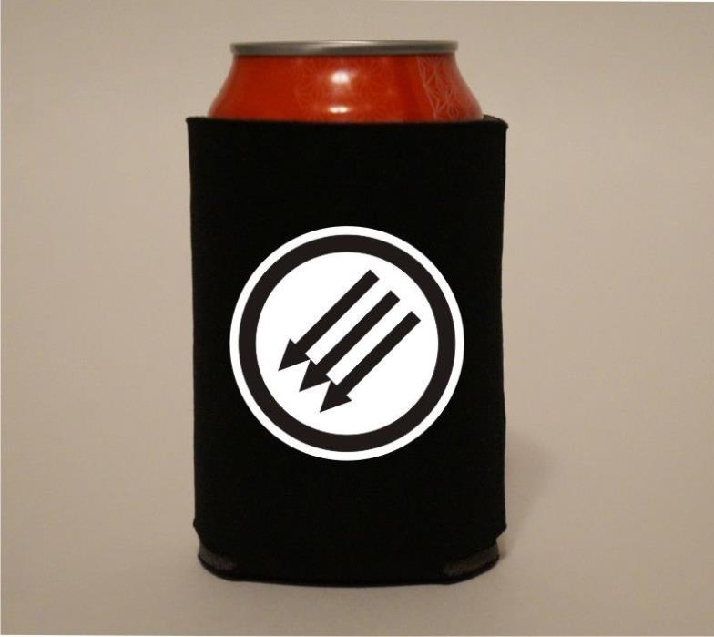 Classic ANTIFA Arrows Symbol Anti Fascism Koozie Coozie Beer Can Holder Cooler