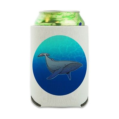 Humpback Whale Can Cooler Drink Sleeve Hugger Collapsible Insulated Holder