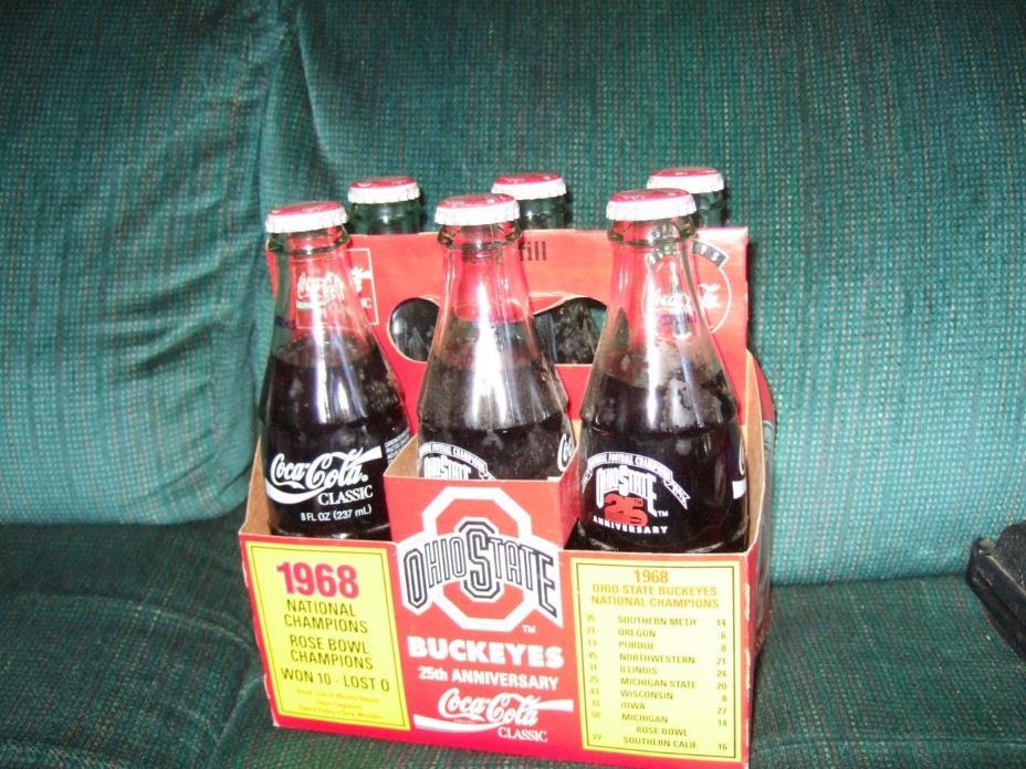 25th Anniversary Ohio State University Coke 6pk bottles