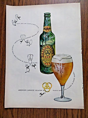 1948 Ballantine Ale Ad  America's Largest Selling Ale 1949 Nash Airflyte 600 Ad