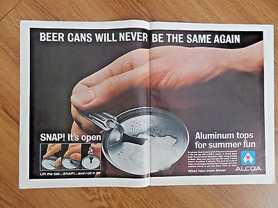 1963 Alcoa Aluminum Ad   Beer Cans will never be the same Again