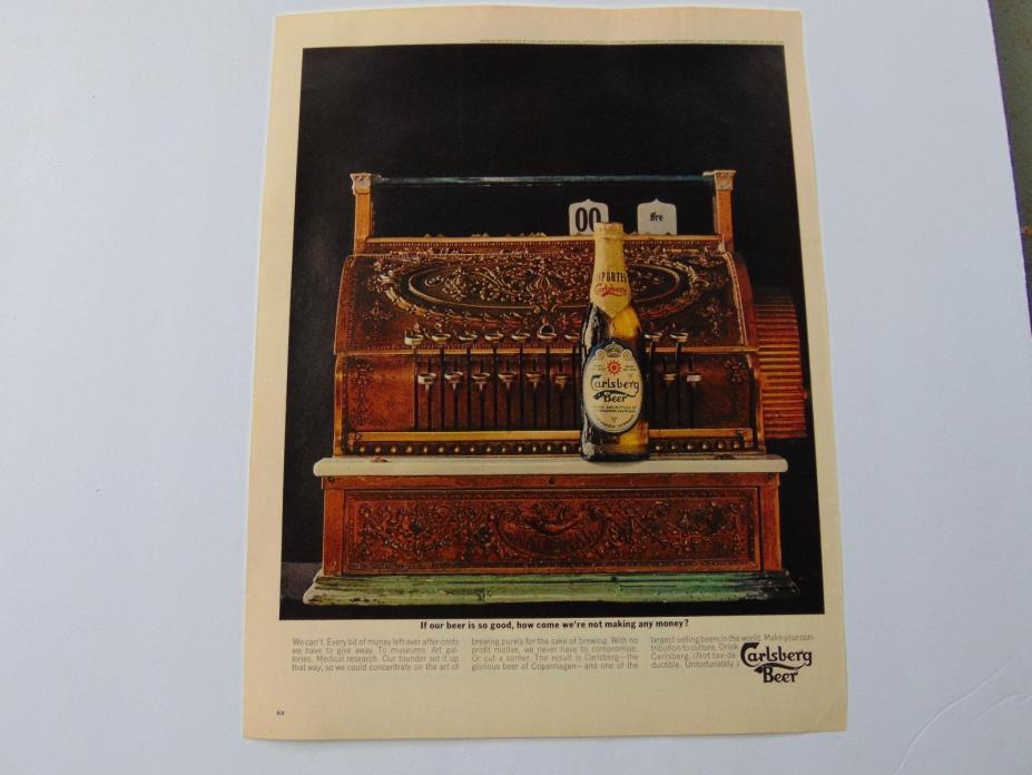 1962-CARLSBERG BEER Vintage Cash register-print ad-A619