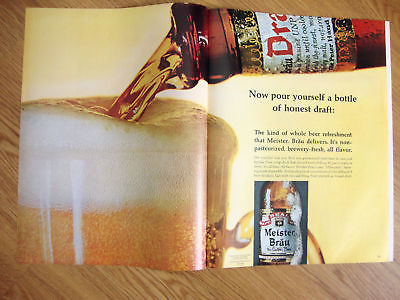 1966 Meister Brau Beer Ad Pours a Honest Draft