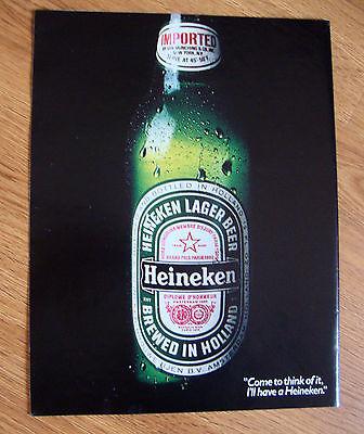 1984 Heineken Beer Ad  America's #1 Imported Beer