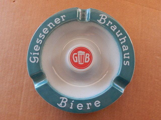 Vintage 1980s Giessener Biere Brauhaus Advertising Ceramic Ashtray 19