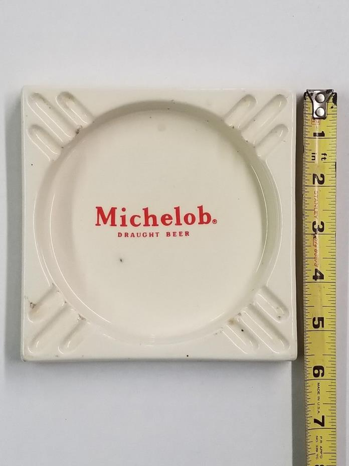 Vintage Michelob Draught Beer Advertising Old Tavern Beer Ashtray