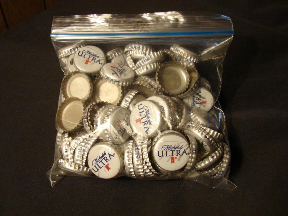 100 pc Lot Michelob Ultra Beer Bottle Caps ~ NO DENTS -  Clean