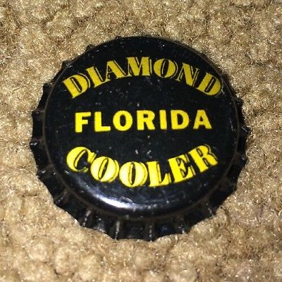 25 Vintage New Old Stock DIAMOND FLORIDA COOLER Bottle Caps