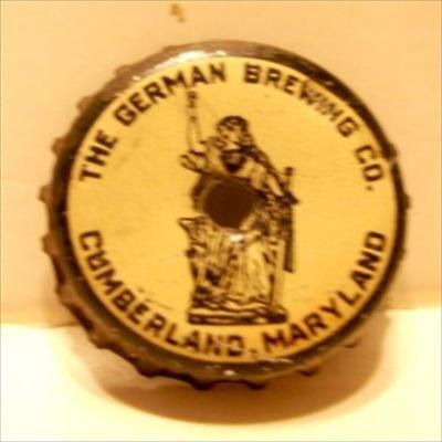 The German Brewing Co.Beer Bottle Cap Cumberland,Md.