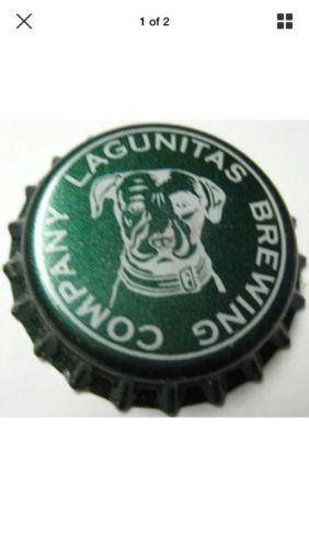 LAGUNITAS BREWING COMPANY green Beer CROWN & MAGNET Bottle Cap w/ DOG CALIFORNIA